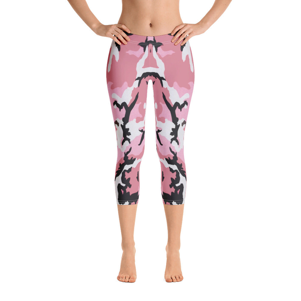 "Women's ""Pink Warrior"" Capri Leggings"