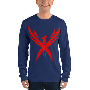 "Men's ""Crimson Phoenix"" Long sleeve T-shirt"