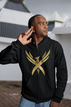 "Unisex ""Golden Phoenix"" Hooded Zipper Sweatshirt"