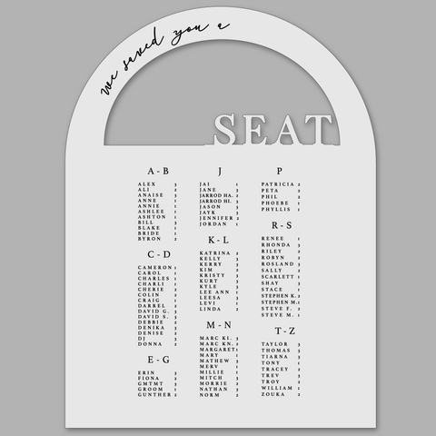 Seating Chart - Dome
