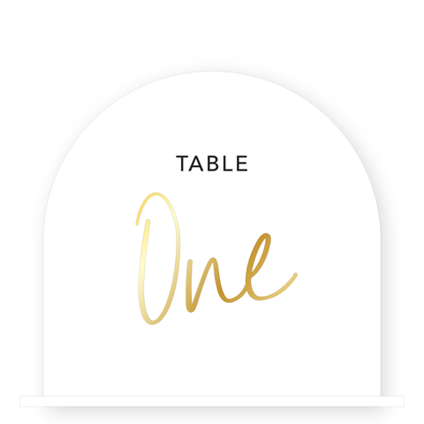 Set of Table Numbers - Layered