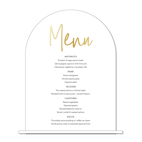 Bar/Table Menu - Layered