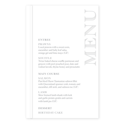 Bar/Table Menu - Modern