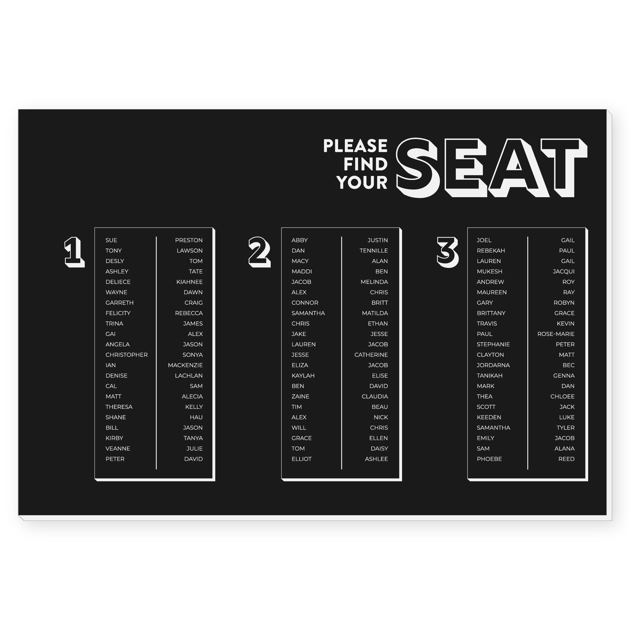 Seating Chart - Structured