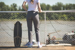 ELEANOR Grey Women's Skater Trousers