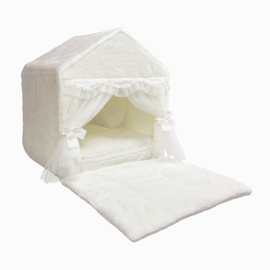 White Velvet Dog House