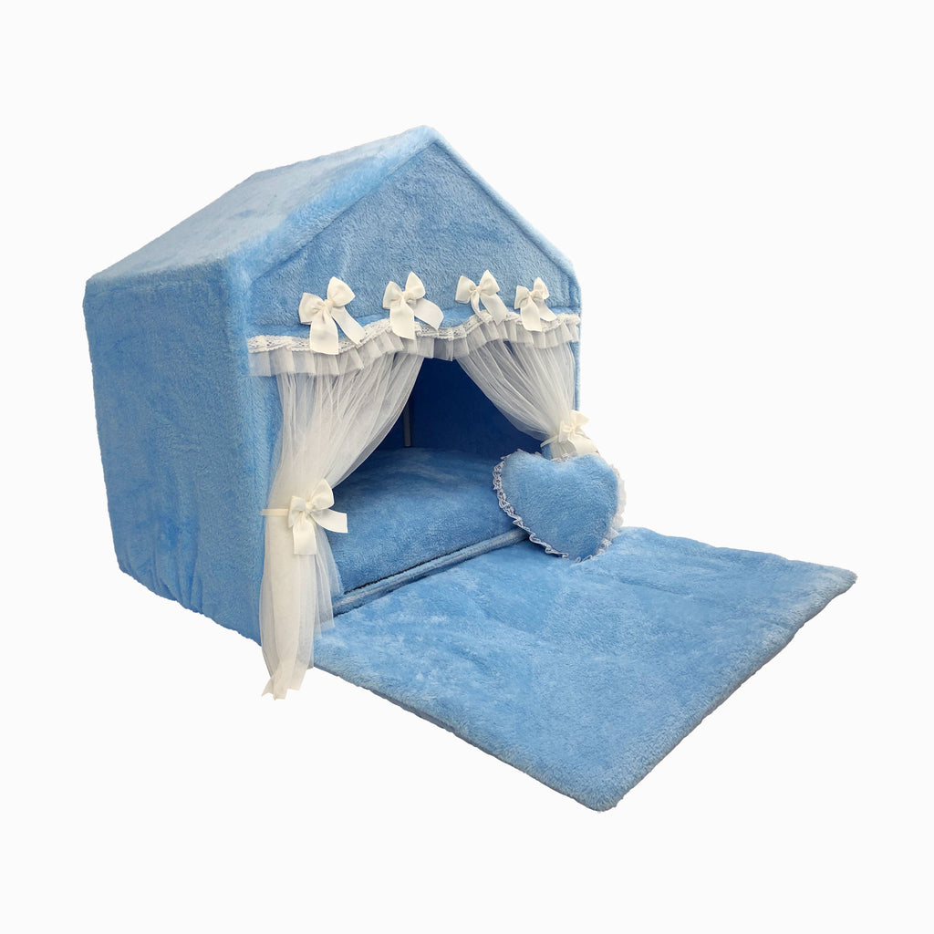 Blue Velvet Dog House