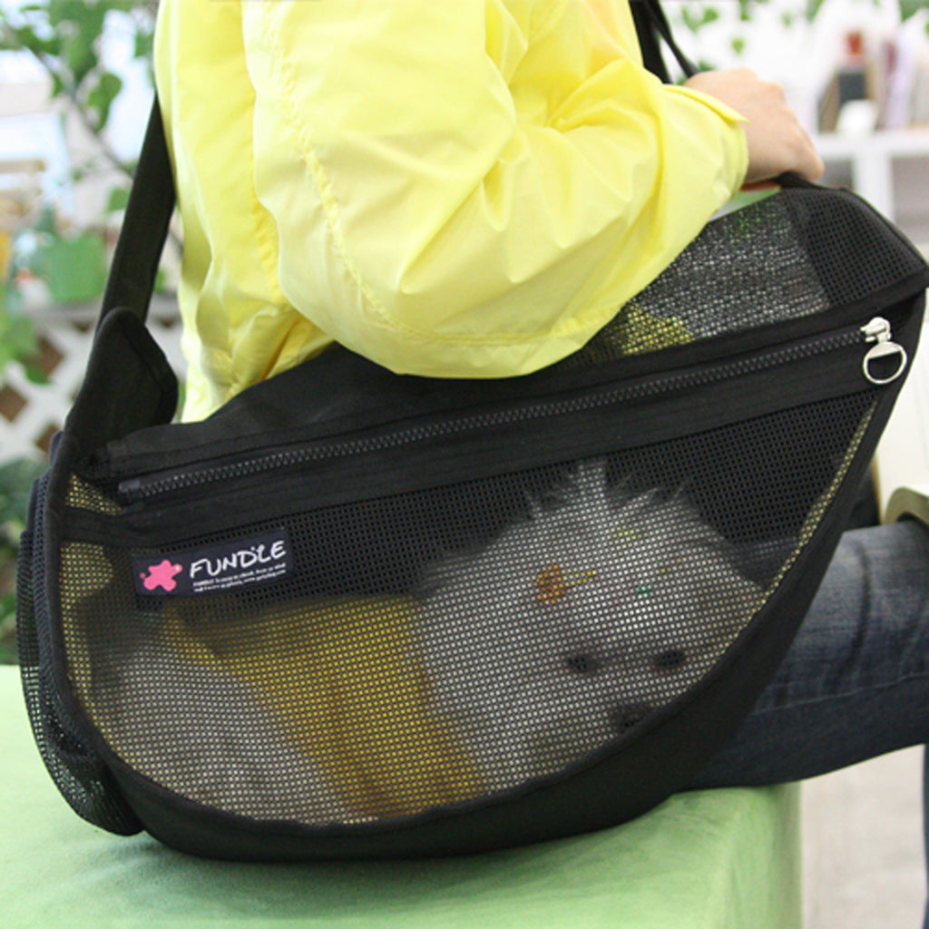 See Through Mesh Pet Carrier Bag