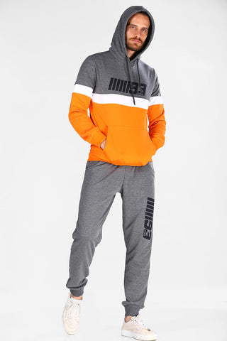 Men's Hooded Anthracite Sweat Suit - Hobbies Finder