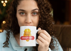Crazy Cat logo Mug
