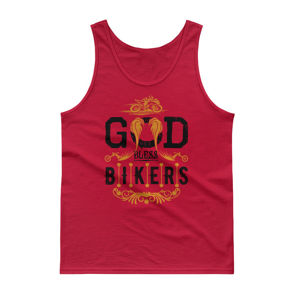 God Bless Bikers New Tank Top Design for Men - Hobbies Finder
