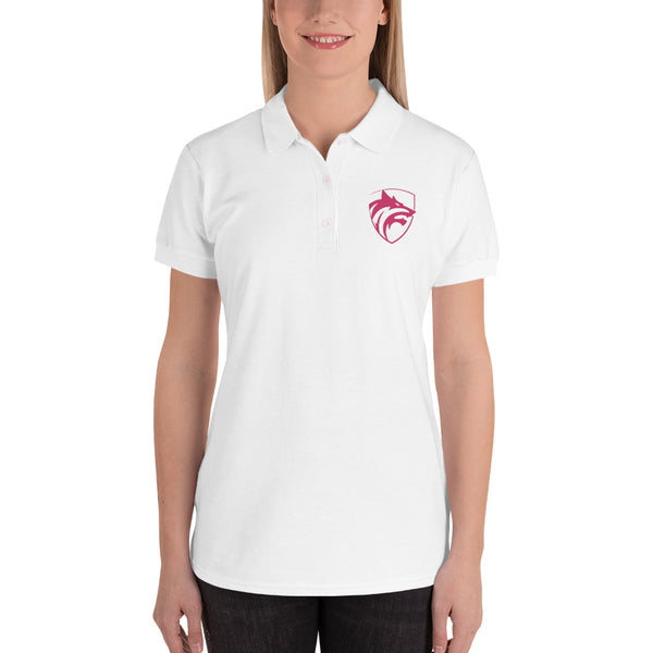 Be The Wolf Embroidered Women's Polo Shirt - Hobbies Finder