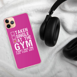 Taken single at the GYM Design iPhone Case