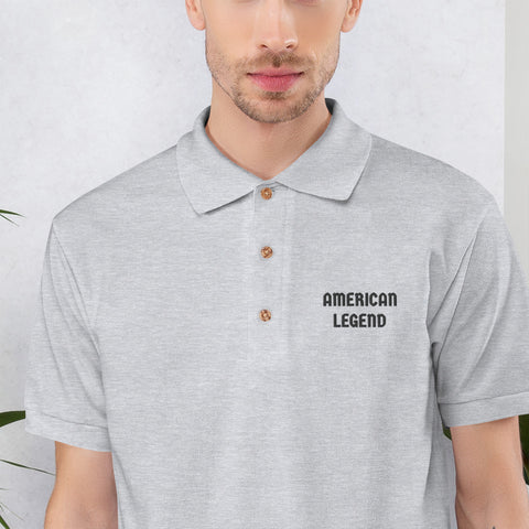 American Legend Embroidered Polo Shirt for Men's - Hobbies Finder