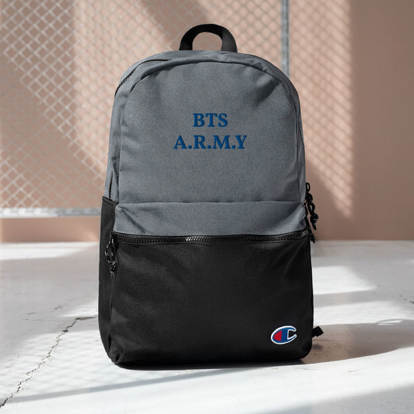 BTS Army Embroidered Champion Backpack Made in USA 🇺🇸