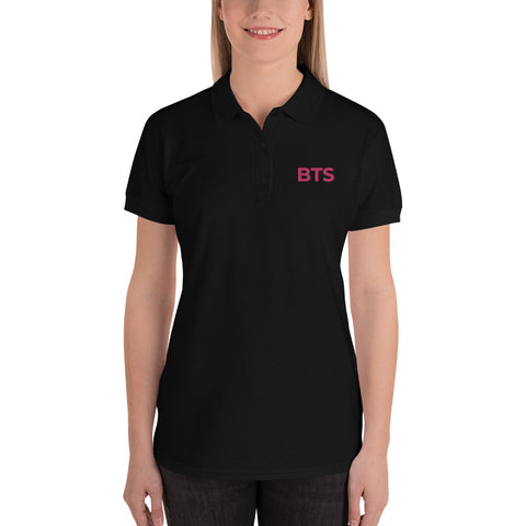 BTS Embroidered Women's Polo Shirt - Hobbies Finder