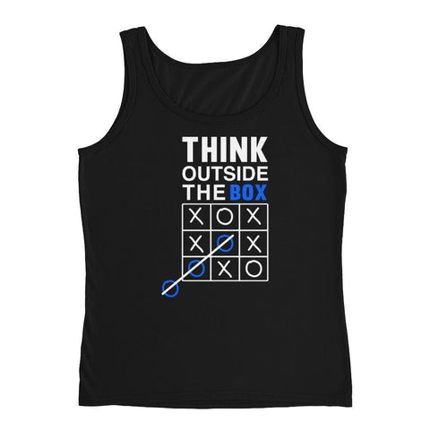 Think outside of the box Ladies' Tank - Hobbies Finder