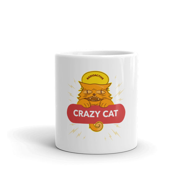Crazy Cat logo Mug - Hobbies Finder