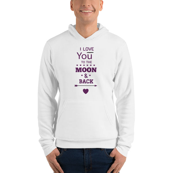 I love you to the Moon! Unisex hoodie for Men - Hobbies Finder
