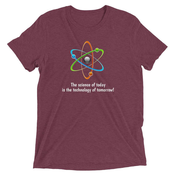 The science of today is the technology of tomorrow Short sleeve t-shirt for Men - Hobbies Finder