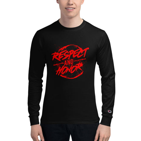 Respect and Honer design Men's Champion Long Sleeve Shirt Made in USA - Hobbies Finder