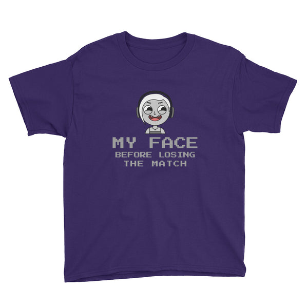Funny Face Design for Youth Short Sleeve T-Shirt - Hobbies Finder