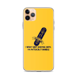 Skateboarding Quote iPhone Case
