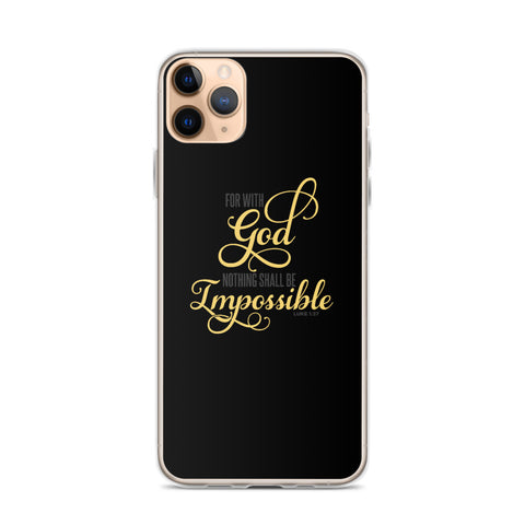 For with god nothing shall be impossible Quote design  iPhone Case - Hobbies Finder
