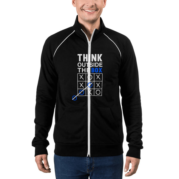 Think out of the box design Piped Fleece Jacket - Hobbies Finder