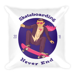 Skateboarding Never End Design Basic Pillow!