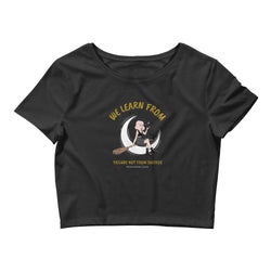 We learn from failure not a success Quote design Women's Crop Tee - Hobbies Finder