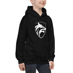 Be the wolf design Kids Hoodie - Hobbies Finder