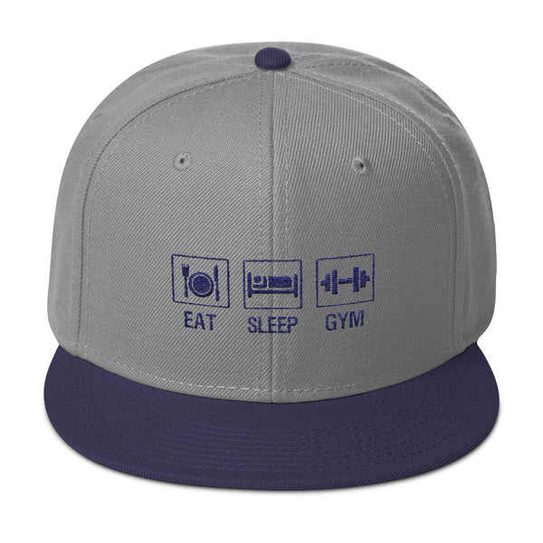 EAT,SLEEP AND GYM Lifestyle Snap-back Hat for Men - Hobbies Finder