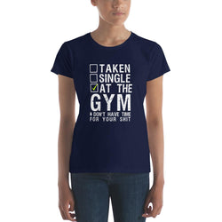 At the GYM Women's short sleeve t-shirt - Hobbies Finder