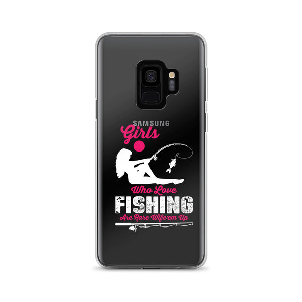 Girls Loves Fishing Samsung Case - Hobbies Finder