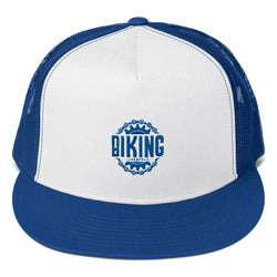 Biking lifestyle Trucker Cap Design - Hobbies Finder