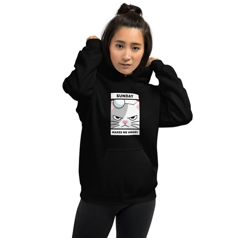 Sunday Makes My Angry Unisex Hoodie for Women