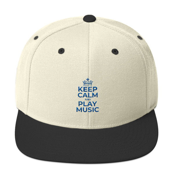 Keep Clam and Play Music Design Snapback Hat - Hobbies Finder