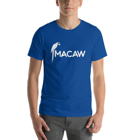 Latest T-shirt for Men with Pretty Macaw logo - Hobbies Finder