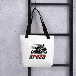 Just Speed Motorcycle Design Tote bag Made In USA