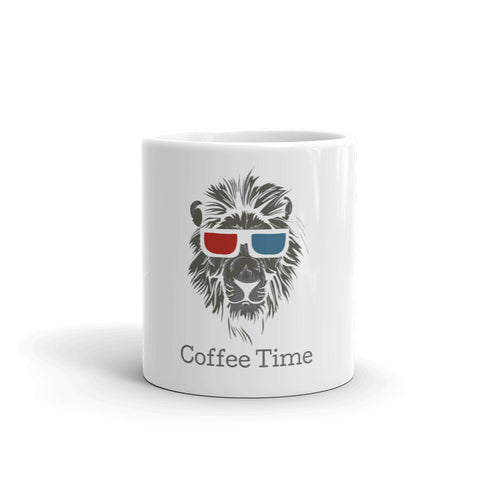 Enjoy your time with Lion Coffee time Logo Mug - Hobbies Finder
