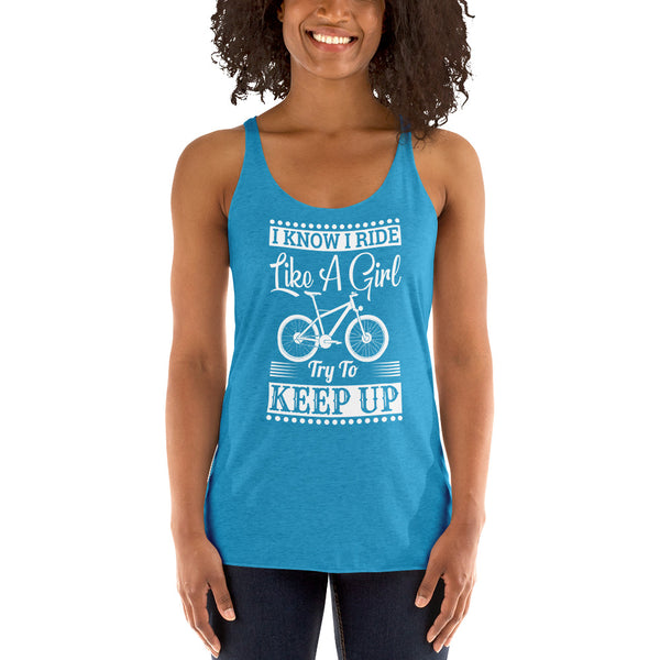 Special Bicycle Design for Women's Racerback Tank