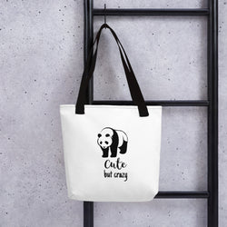 Cute But Crazy Panda Tote bag