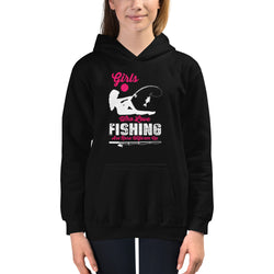 Fishing girls design Kids Hoodie for boys and girls - Hobbies Finder