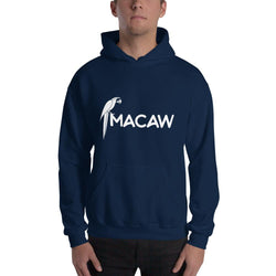 Macaw Design Hooded Sweatshirt for Men - Hobbies Finder