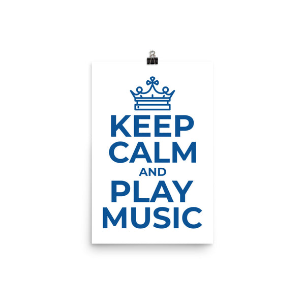 KEEP CLAM AND PLAY MUSIC POSTER - Hobbies Finder