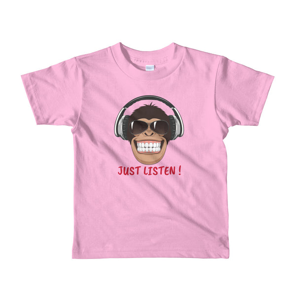 Just Listen Short sleeve kids t-shirt - Hobbies Finder