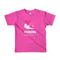 Fishing Girls design Short sleeve kids t-shirt