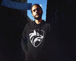 Be The Wolf Design Hooded Sweatshirt for Men - Hobbies Finder