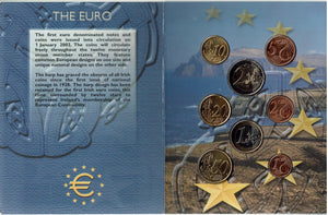 Ireland Official 1st Euro Coin set 2002